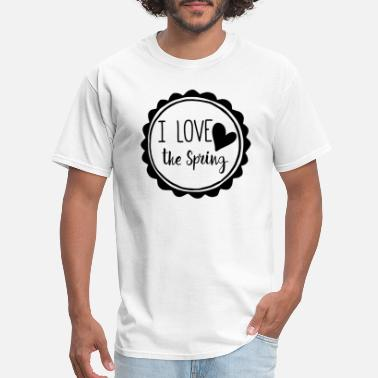 I Heart Spring Roundness I Love the spring - Men's T-Shirt