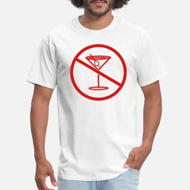 Clip Art zone forbidden no drink thirst party celebrate alc - Men's T-Shirt