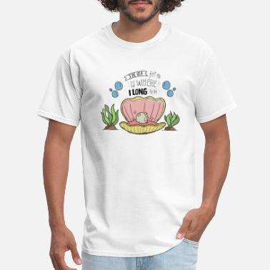 Harbour Pearl In A Shell Vector Illustration - Men's T-Shirt