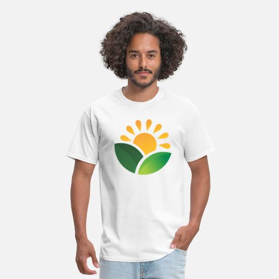 Himalaya T-Shirts - Sunrise Obscured Leaves - Men's T-Shirt white