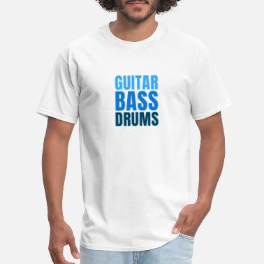 GUITAR BASS DRUMS funny music design - Men's T-Shirt