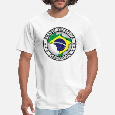 Lds Mission Brazil Teresina Mission Classic Seal with Flag - Men's T-Shirt