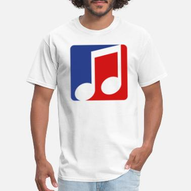 Trance red blue button music note cool silhouette sign pa - Men's T-Shirt