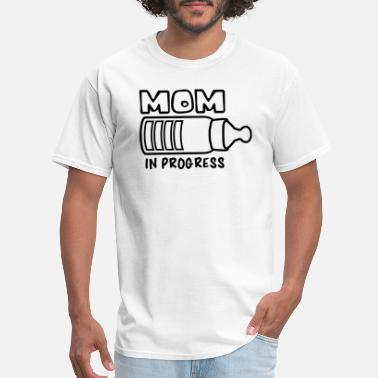Baby Girl Loading text mom in progress baby pregnant vial drink thir - Men's T-Shirt