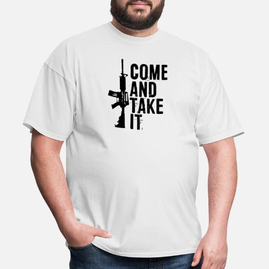 f257f4aac ... Funny Pro Gun 2nd Amendment Gift - Men's T-Shirt. Back. Back. Design.  Front. Front