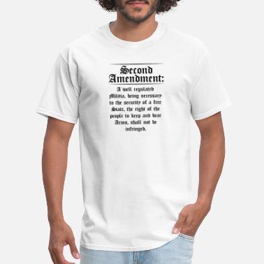 06dc1fcf9 Second Amendment Text Funny Pro Gun 2nd Amendment - Men's T-. Men's T- Shirt