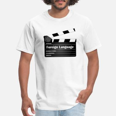 Foreign Word Foreign Language Movie Clapperboard - Men's T-Shirt