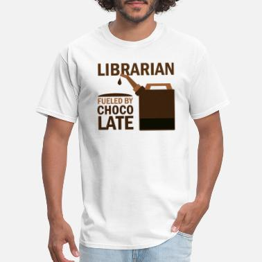 Community Librarian Librarian Funny Chocolate Gift - Men's T-Shirt