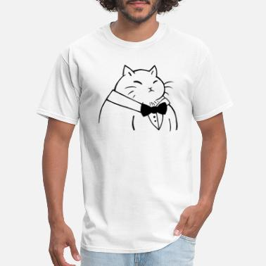 Cat Suit Cat in a Suit - Men's T-Shirt