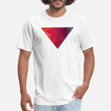 Red Triangle Polygon Red Triangle - Men's T-Shirt