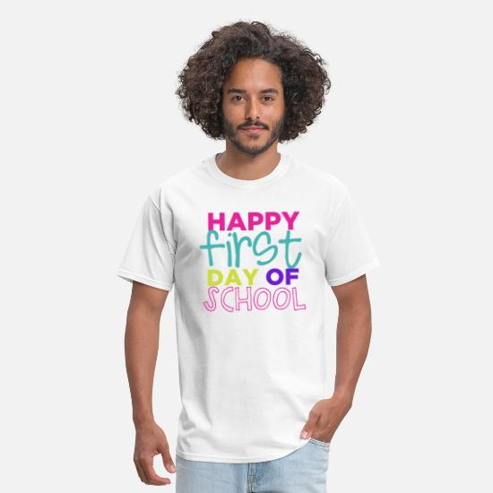 School T-Shirts - Happy First Day of School - Men's T-Shirt white