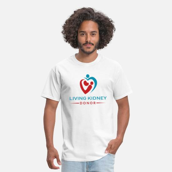 Donor T-Shirts - Living Kidney Donor (DonorPlus) - Men's T-Shirt white