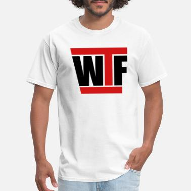 Funny Sayings Bro wtf cool text letters logo what the fuck what the - Men's T-Shirt