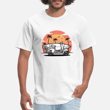 Honolulu Scooter with Surfboard - Men's T-Shirt