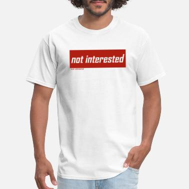 Explanation not interested RED no explanation - Men's T-Shirt