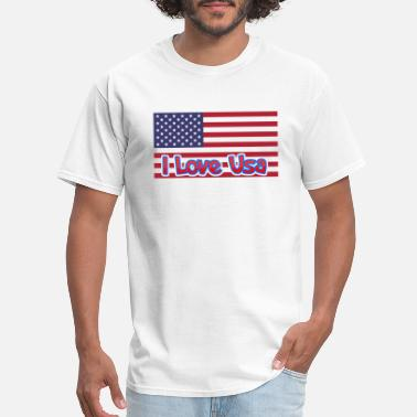 Cocacola I love usa - Men's T-Shirt