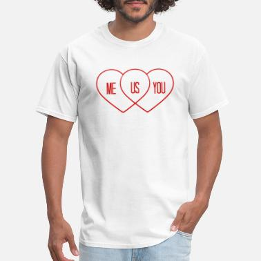 Team Logo we both in love love heart shape diagram you and m - Men's T-Shirt