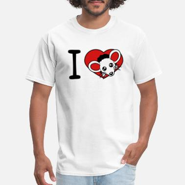 I Love Head Heart heart love i love hole wall mousehole head face mo - Men's T-Shirt