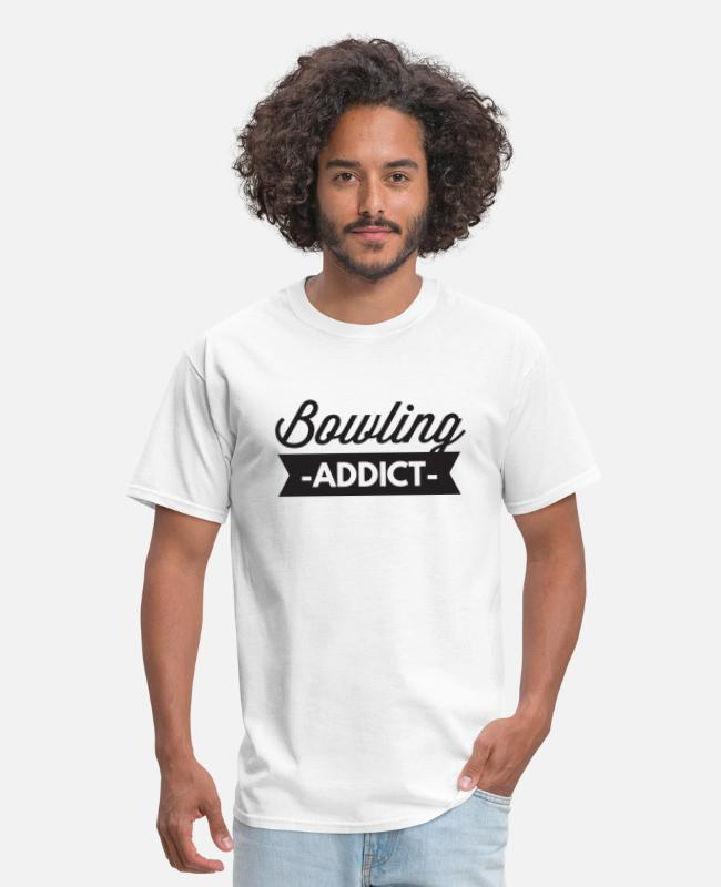 Poker T-Shirts - bowling addict - Men's T-Shirt white