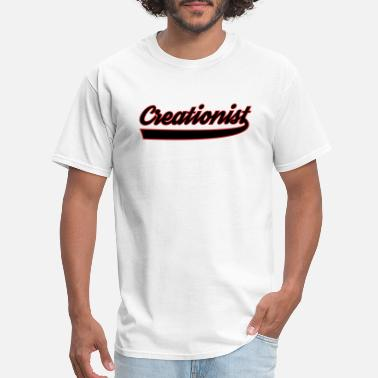 Creationist Creationist black white - Men's T-Shirt