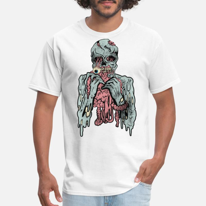 ZOMBIE HAND HALLOWEEN POSTER HORROR IDEAL GIFT COTTON BLACK MEN FUNNY T SHIRT