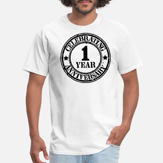 3f06156806 Anniversary T-Shirts - CELEBRATING 1 YEAR ANNIVERSARY™ - Men's T-Shirt white