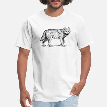 Wolf Draw Wolf Drawing - Men's T-Shirt