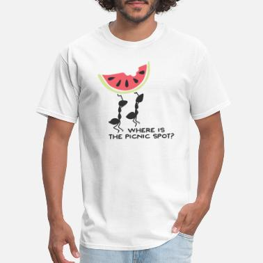 Ants Where Is The Picnic Spot For Ants - Men's T-Shirt