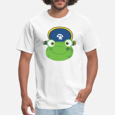 Frogfish Frog Smiling Head With Pirate Hat - Men's T-Shirt
