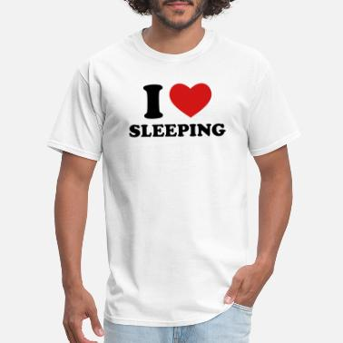 Sleeping I Love Sleeping - Men's T-Shirt