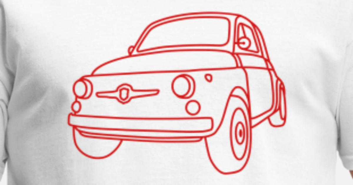 Fiat 500 Embroidered /& Personalised T Shirt