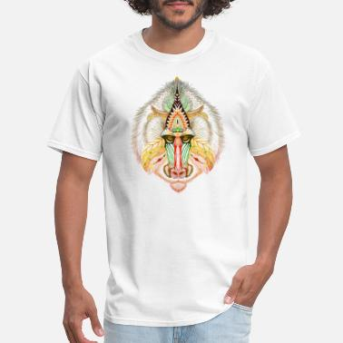 Aztec Style Colored baboon in aztec style clothing & products - Men's T-Shirt