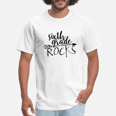 Grade Sixth Grade Rocks Teacher T-Shirts - Men's T-Shirt