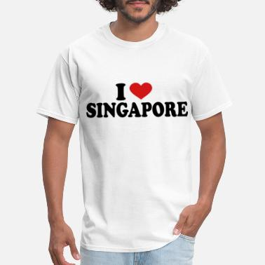Singapore I Love singapore - Men's T-Shirt