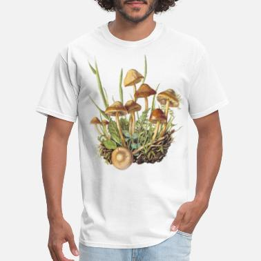 Botanical Botanical Psytrance Mushrooms Botany T-Shirt - Men's T-Shirt