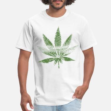 amdesco junior weed leaf faded and distressed pot - Men's T-Shirt