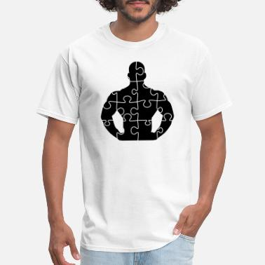 Symbols And Shapes puzzle stark bodybuilder fitness muskeln männlich - Men's T-Shirt