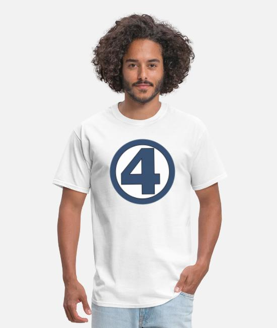 Design T-Shirts - 4 four logo - Men's T-Shirt white