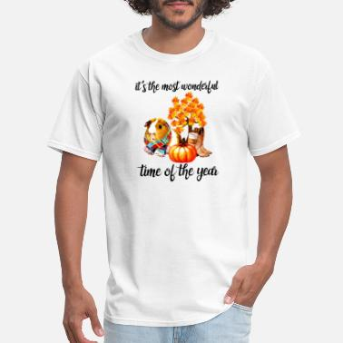 Time Machine Guinea Pig Its The Most Wonderful Time Of The Year - Men's T-Shirt