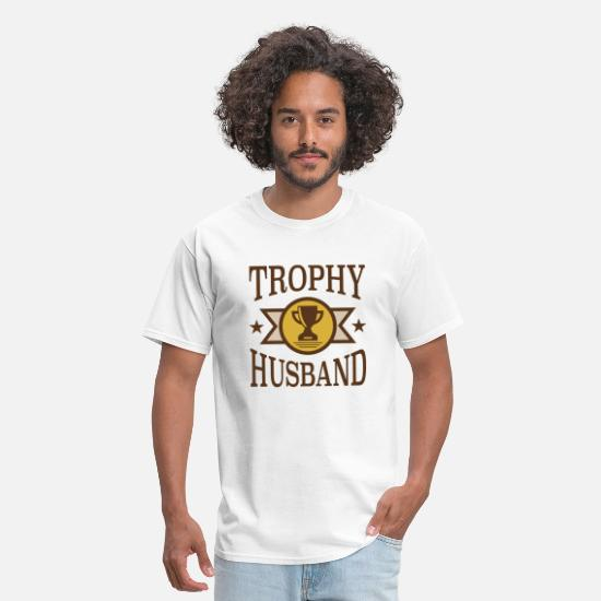 Birthday T-Shirts - Trophy Husband - Men's T-Shirt white