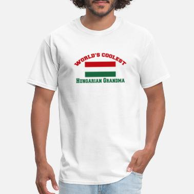 Funny Hungarian Hungarian - world's coolest hungarian grandma - Men's T-Shirt