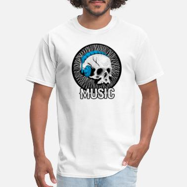Until Death Music Skull Forever Until Death Song Headphone - Men's T-Shirt
