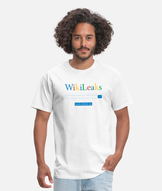 News Leaks T-Shirts - WikILeaks Search - Men's T-Shirt white