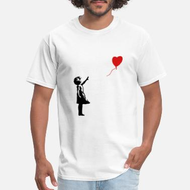 Balloon Banksy ba03 red balloon girl - Men's T-Shirt