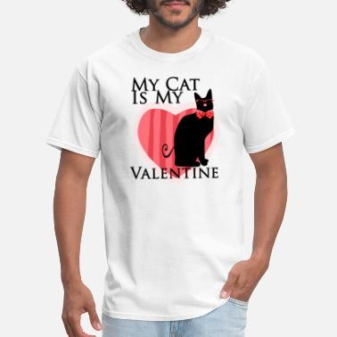Valentine Cat Cat - My Cat Is My Valentine - Men's T-Shirt