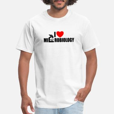 Microbiology Funny Microbiology - i heart microbiology - Men's T-Shirt