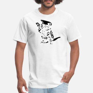 Standing Cat standing cat - Men's T-Shirt