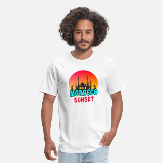 Patriot T-Shirts - Morocco Sunset / Mosque Gift Rabat - Men's T-Shirt white