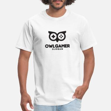 owl gamer - Men's T-Shirt