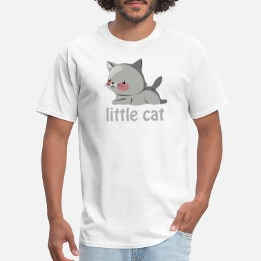 Litte Boy Cute Litte Cat funny tshirt - Men's T-Shirt